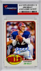 Jim Kelly Buffalo Bills Autographed 2013 Topps Archives # 10 Card