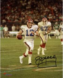 "Jim Kelly Buffalo Bills Autographed 8"" x 10"" Running Photograph"