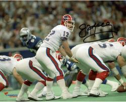 "Jim Kelly Buffalo Bills Autographed 8"" x 10"" Under Center Photograph"