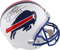 "Jim Kelly Buffalo Bills Autographed Authentic Riddell Replica Throwback Helmet with ""HOF 02"" Inscription"
