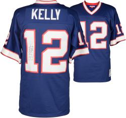 "Jim Kelly Buffalo BIlls Autographed Jersey with ""HOF 2002"" Inscription"