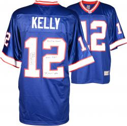 Jim Kelly Buffalo BIlls Autographed Jersey with Multiple Stats Inscriptions Limited Edition 2-11/12
