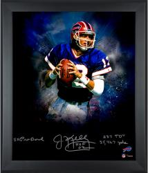 "Jim Kelly Buffalo Bills Framed Autographed 20"" x 24"" In Focus Photograph with Multiple Inscriptions-#2-23 of a Limited Edition of 24"
