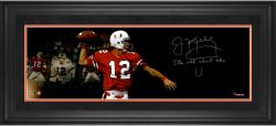 "Jim Kelly Miami Hurricanes Framed Autographed 10"" x 30"" Film Strip Photograph with Its All About The U! Inscription-#2-23 of a Limited Edition of 24"