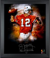 "Jim Kelly Miami Hurricanes Framed Autographed 20"" x 24"" In Focus Photograph with Its All About The U! Inscription-#2-23 of a Limited Edition of 24"