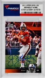 Jim Kelly University of Miami Hurricanes Autographed 2011 Upper Deck # 50 Card with The U Inscription