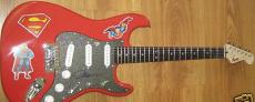Jim Lee autographed signed auto Superman DC Fender Squier Bullet electric guitar