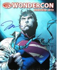 Jim Lee signed auto 2013 Wondercon SDCC program Superman art cover signing photo