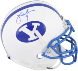 Jim McMahon BYU Cougars Autographed Mini Helmet - Mounted Memories