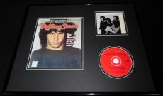 Jim Morrison 16x20 Framed Rolling Stone Cover & The Doors Hits CD Display