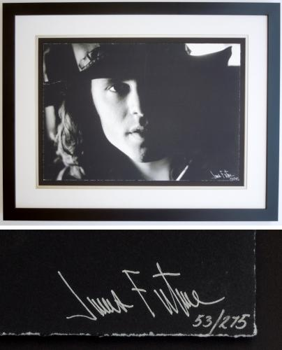 Jim Morrison - James Fortune Limited Edition Fine Art Giclee Lithograph Photo Print - Black FRAME 22x28 inches - Custom FRAMED - Guaranteed to pass PSA or JSA - The DOORS Singer