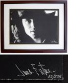 Jim Morrison - James Fortune Limited Edition Fine Art Giclee Lithograph Photo Print - Mahogany FRAME 22x28 inches - Custom FRAMED - Guaranteed to pass PSA or JSA - The DOORS Singer
