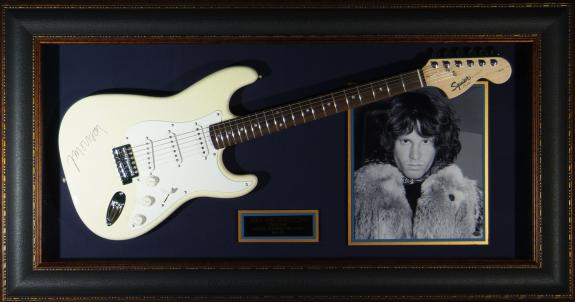 Jim Morrison – Laser Engraved Signature Framed Guitar