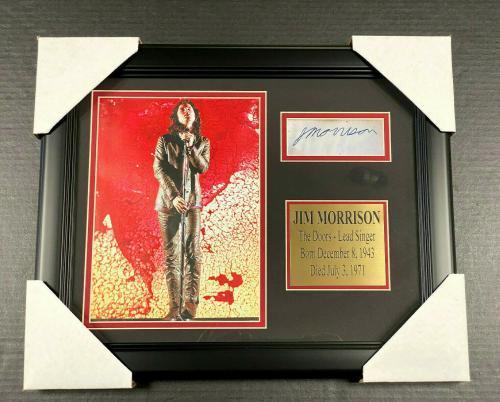 Jim Morrison The Doors Autographed REPRINT Framed MAGAZINE 8x10 Photo