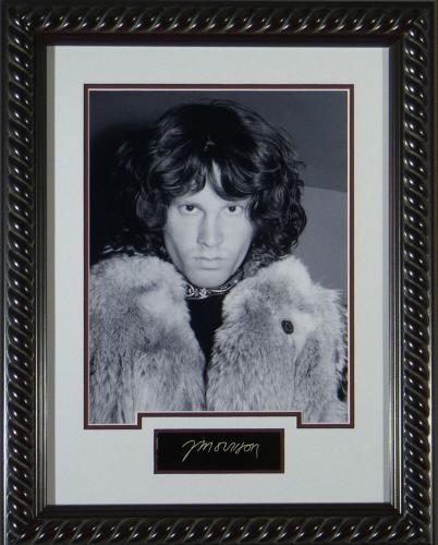 Jim Morrison - Replica Autographed Framed Display