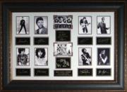 Jim Morrison unsigned Rock Legends Vintage 10 Photo Engraved Signature Series Leather Framed 27x39 (entertainment)