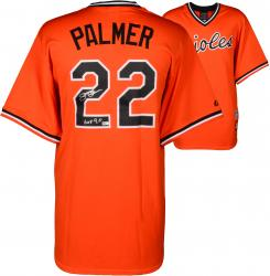 "Jim Palmer Baltimore Orioles Autographed Majestic Replica Orange Jersey with ""HOF 1990"" Inscription"