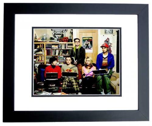 Jim Parsons and Kaley Cuoco Signed - Autographed Big Bang Theory 8x10 inch Photo - BLACK CUSTOM FRAME - Guaranteed to pass PSA or JSA