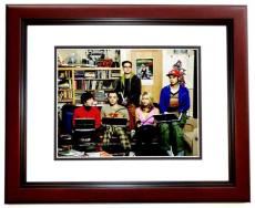 Jim Parsons and Kaley Cuoco Signed - Autographed Big Bang Theory 8x10 inch Photo - MAHOGANY CUSTOM FRAME - Guaranteed to pass PSA or JSA