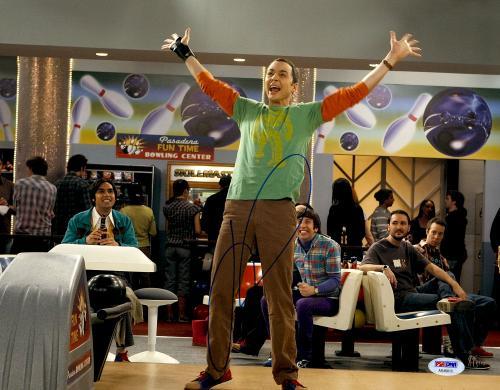 "Jim Parsons Autographed 11"" x 14"" Big Bang Theory Bowling Photograph - PSA/DNA"