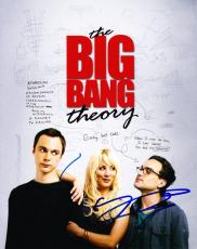 Jim Parsons Johnny Galecki Big Bang Theory Signed 8x10 Photo Authentic Autograph