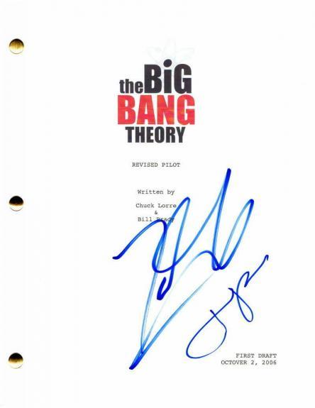 Jim Parsons & Johnny Galecki Signed Autograph The Big Bang Theory Pilot Script
