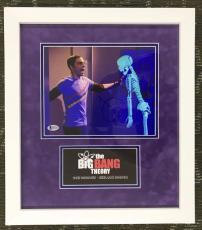 JIM PARSONS-Sheldon Cooper-Big Bang signed 8x10 custom framed display- BAS COA
