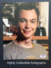Jim Parsons Signed 8x10 Photo Autograph Psa Dna Coa Z53547 The Big Bang Theory