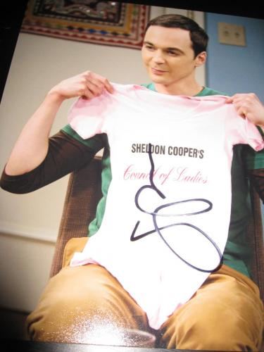 JIM PARSONS SIGNED AUTOGRAPH 8x10 PHOTO BIG BANG THEORY PROMO IN PERSON COA D