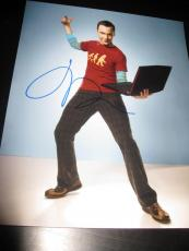 JIM PARSONS SIGNED AUTOGRAPH 8x10 PHOTO BIG BANG THEORY PROMO IN PERSON COA NY E