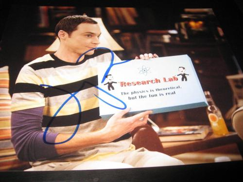 JIM PARSONS SIGNED AUTOGRAPH 8x10 PHOTO BIG BANG THEORY PROMO IN PERSON COA X5