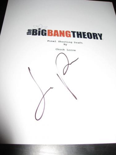 Jim Parsons Signed Autograph Big Bang Theory Script Full Script Television Coa D