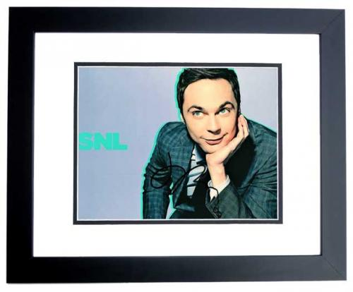 Jim Parsons Signed - Autographed SNL Host - The Big Bang Theory 8x10 inch Photo as Sheldon Cooper - BLACK CUSTOM FRAME - Guaranteed to pass PSA or JSA