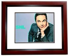 Jim Parsons Signed - Autographed SNL Host - The Big Bang Theory 8x10 inch Photo as Sheldon Cooper - MAHOGANY CUSTOM FRAME - Guaranteed to pass PSA or JSA