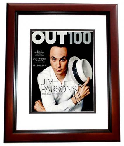 Jim Parsons Signed - Autographed The Big Bang Theory - Sheldon Cooper 11x14 inch Photo MAHOGANY CUSTOM FRAME - Guaranteed to pass PSA or JSA