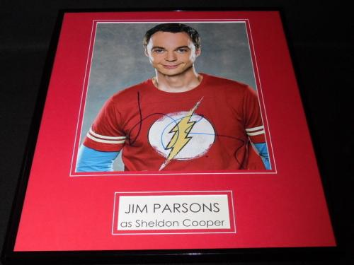 Jim Parsons Signed Framed 16x20 Photo Display AW Big Bang Theory Sheldon