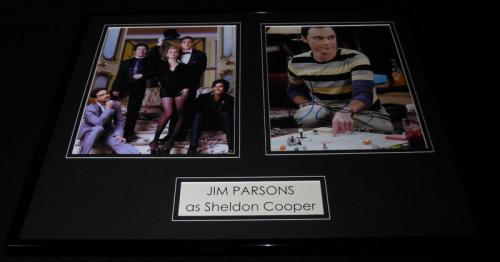 Jim Parsons Signed Framed 16x20 Photo Set Big Bang Theory Sheldon
