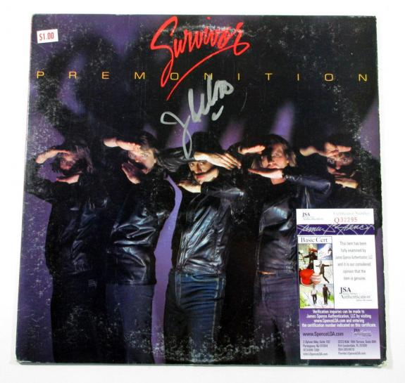 Jim Peterik Signed LP Record Album Survivor Premonition w/ JSA AUTO