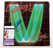 Jim Peterik Signed LP Record Album Survivor Vital Signs w/ JSA AUTO DF019005