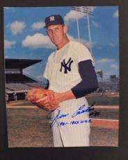 JIM the Mummy COATES NY YANKEES ALL STAR SIGNED AUTOGRAPH 8x10 PICTURE COA S13
