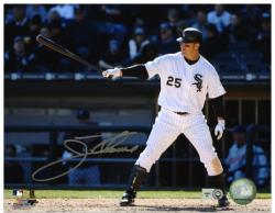 """Jim Thome Chicago White Sox Autographed 8"""" x 10"""" Pointing Bat Photograph"""