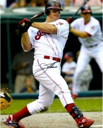 Jim Thome Cleveland Indians Autographed 16'' x 20'' Swinging Photograph
