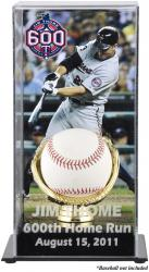 Jim Thome Minnesota Twins 600th HR Baseball Display Case with Gold Glove & Plate - Mounted Memories