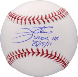 "Jim Thome Philadelphia Phillies Autographed Baseball with ""600 HR 8/15/11"" Inscription"