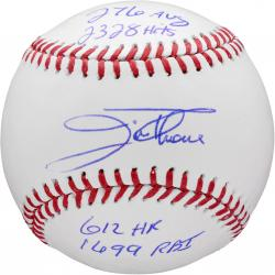Jim Thome Philadelphia Phillies Autographed Baseball with Multiple Inscriptions