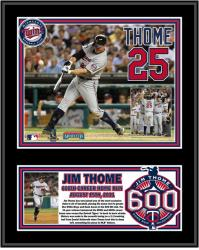 "Jim Thome Minnesota Twins 600th HR Sublimated 12"" x 15"" Plaque - Mounted Memories"