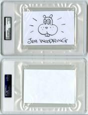 Jim Woodring SIGNED 4x6 Original Artwork + Frank Sketch PSA/DNA AUTOGRAPHED