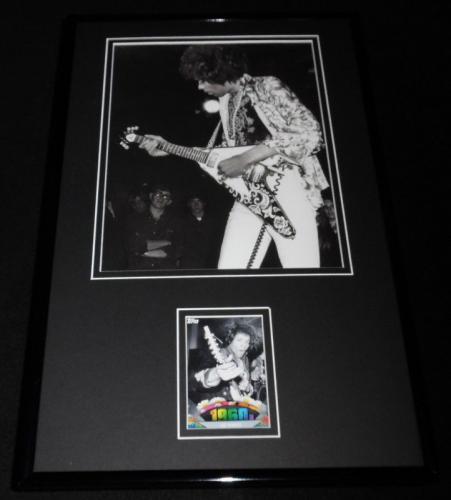 Jimi Hendrix 11x17 Framed ORIGINAL Topps Card & Photo Display