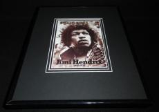 Jimi Hendrix 1970 Rolling Stone Tribute Framed Cover Poster 11x14 Official Repro