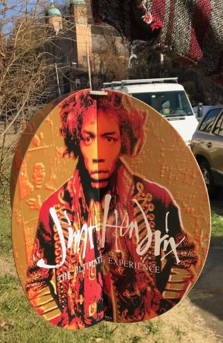 Jimi Hendrix 1983 Record Store Promotional Hanging Sign